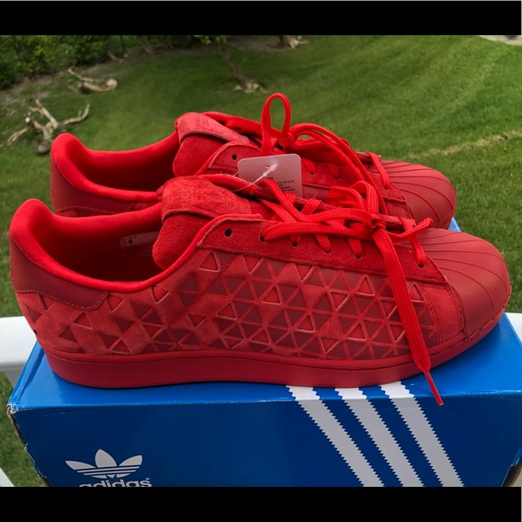 super cute fafd2 efaa6 Adidas VivRED Red Superstar Xeno Shoes AQ8181. NWT. adidas.  67  140. Size.  12